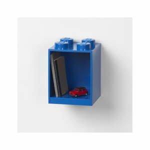 Detská modrá nástenná polica LEGO® Brick 4