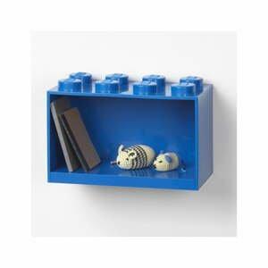 Detská modrá nástenná polica LEGO® Brick 8