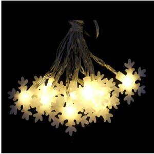 Béžová svetelná LED reťaz Unimasa Estrella, 20 svetielok