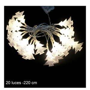 Béžová svetelná LED reťaz Unimasa Pino, 20 svetielok