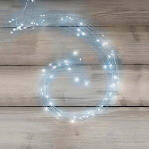 Svetelná micro-LED reťaz v striebornej farbe Unimasa Metal, 354 svetielok