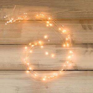 Svetelná micro-LED reťaz v zlatej farbe Unimasa Metal, 354 svetielok