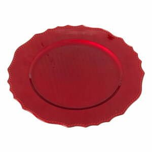 Červený oválny servírovací podnos Unimasa
