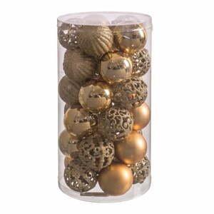 Súprava 30 vianočných ozdôb v zlatej farbe Unimasa Mixto, ø 5 cm