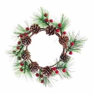 Závesný vianočný veniec Unimasa Acebo, ø 10 cm