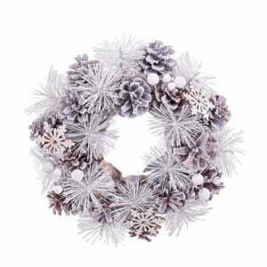 Biely závesný vianočný veniec Unimasa, ø 24 cm