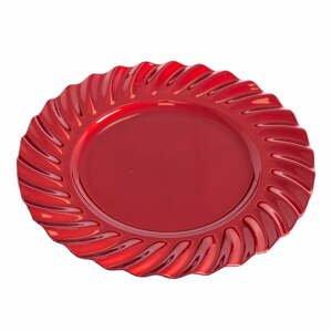 Červený okrúhly servírovací podnos Unimasa