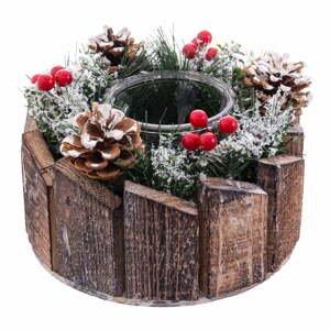 Vianočný svietnik na sviečku Unimasa Madera, ø 15 cm