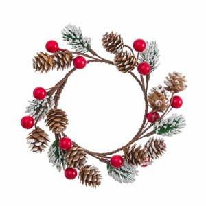 Závesný vianočný veniec Unimasa Velón, ø 15 cm