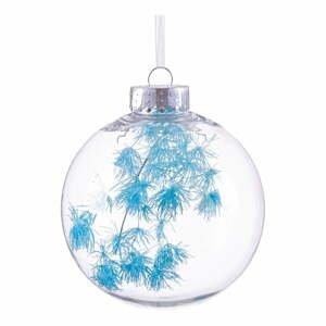 Vianočná ozdoba s tyrkysovými detailmi Unimasa, ø 8 cm