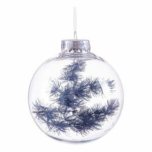 Vianočná ozdoba s tmavě modrými detailmi Unimasa, ø 8 cm
