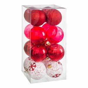 Súprava 16 vianočných ozdôb v červenej farbe Unimasa Foam, ø 6 cm