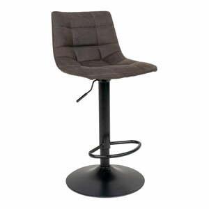 Súprava 2 polstrovaných barových stoličiek s tmavosivým poťahom House Nordic Middelfart