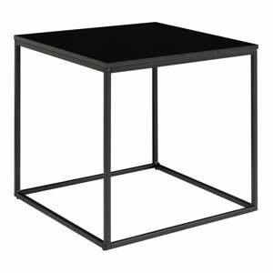 Čierny odkladací stolík s oceľovým rámom House Nordic Vita, 45 x 45 cm