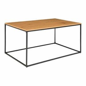 Konferenčný stolík s čiernym kovovým rámom a doskou v dubovom dekore House Nordic Vita, 90 x 60 cm