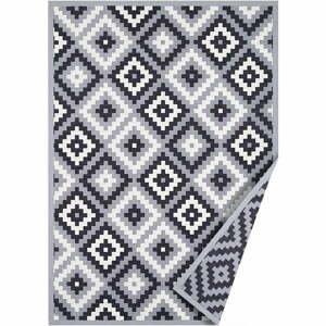 Sivý obojstranný koberec Narma Saka, 80 x 250 cm