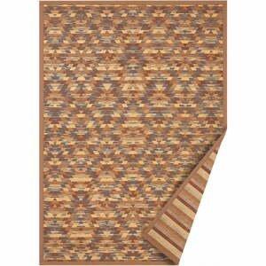 Hnedý obojstranný koberec Narma Vergi, 80 x 250 cm