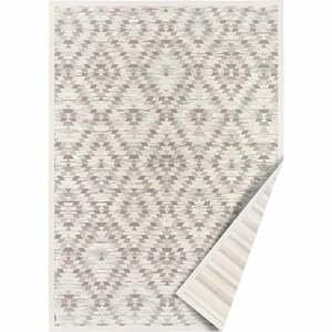 Bielo-sivý obojstranný koberec Narma Vergi, 70 x 140 cm