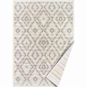 Bielo-sivý obojstranný koberec Narma Vergi, 80 x 250 cm
