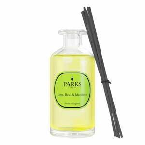 Vonný difuzér s vôňou limetky, bazalky a mandarínky Parks Candles London, intenzita vône 8 týždňov