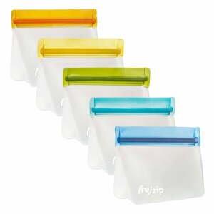 Súprava 5 desiatových vrecúšok (re)zips Essential, 230 ml