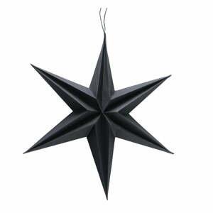 Čierna vianočná papierová závesná dekorácia v tvare hviezdy Boltze Kassia, ø 30 cm