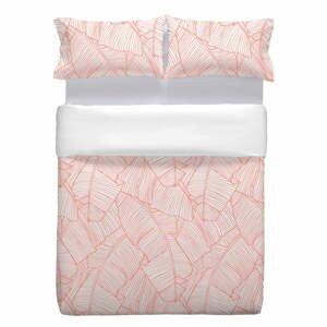 Ružová bavlnená obliečka na vankúš Marghett Coral, 80 x 80 cm