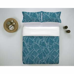 Modré bavlnené obliečky Marghett Banama, 200 x 200 cm