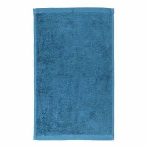 Modrý bavlnený uterák Boheme Alfa, 30 x 50 cm