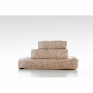 Súprava 3 béžových bavlnený uterákov El Delfin Lisa Coral