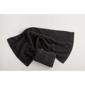 Tmavosivý bavlnený uterák El Delfin Lisa Coral, 30 x 50 cm