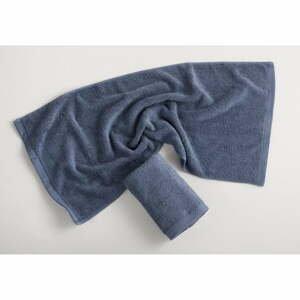 Modrosivý bavlnený uterák El Delfin Lisa Coral, 50 x 100 cm