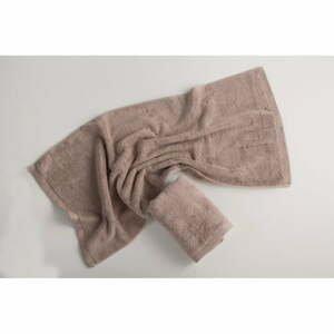 Tmavobéžový bavlnený uterák El Delfin Lisa Coral, 30 x 50 cm