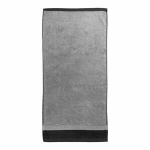 Sivá bavlnená osuška Ethere Banda Antracita, 100 x 150 cm