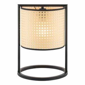 Béžová stolová lampa Fischer & Honsel Tyler, výška 36 cm