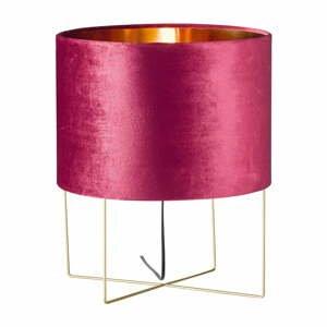 Fialová stolová lampa Fischer & Honsel Aura, výška 43 cm