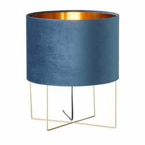 Modrá stolová lampa Fischer & Honsel Aura, výška 43 cm