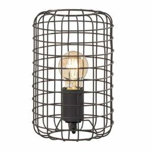 Čierná stolová lampa Fischer & Honsel Justin, výška 25 cm