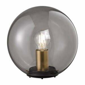 Čierna sklenená stolová lampa Fischer & Honsel Dini, ø 25 cm