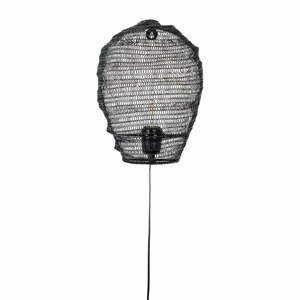 Čierne nástenné svietidlo White Label Lena
