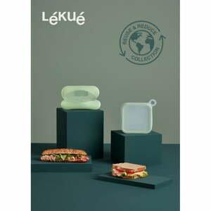 Súprava silikónového desiatového boxu na sendvič a dózy na bagetu Léuké Reusable