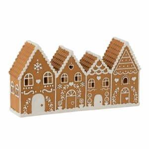 Svetelná vianočná dekorácia J-Line Gingerbread House