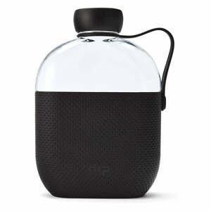 Čierna fľaša na vodu HIP, 650 ml