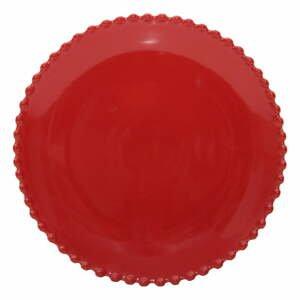 Rubínovočervený kameninový dezertný tanier Costa Nova Pearlrubi, ø 22 cm