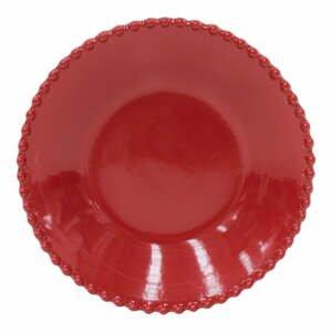 Rubínovočervený hlboký tanier z kameniny Costa Nova, ø 24,2 cm