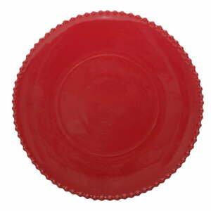 Rubínovočervený kameninový tanier Costa Nova, ø 34,3 cm