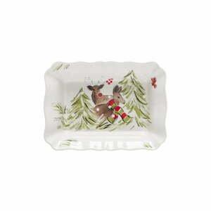 Kameninová zapekacia misa Casafina Deer Friends, 30 x 22 cm