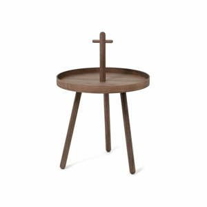 Odkladací stolík z orechového dreva Wireworks Pick Me Up, ø 45 cm