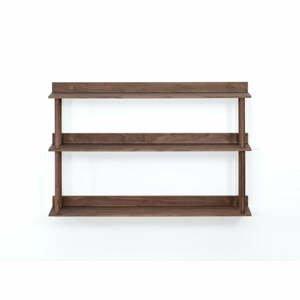 Nástenný policový diel z orechového dreva Wireworks Platform3