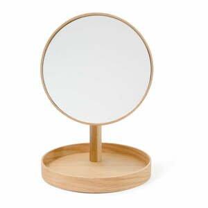 Kozmetické zrcadlo s rámom z dubového dreva Wireworks Cosmos, ø 25 cm